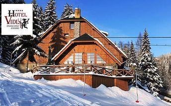 Horský wellness hotel VIDLY **** s polopenzí a saunou pro dva, dítě do 12 let zdarma