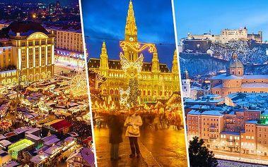Zájezd na adventní trhy do Vídně, Drážďan či Salzburgu s osobním řidičem až pro 8 osob