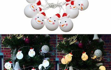 Vánoční LED řetěz se sněhuláky