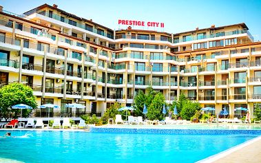 Hotel Prestige City Ii, Bulharsko, Černomořské pobřeží, 8 dní, Letecky, Snídaně, Alespoň 3 ★★★, sleva 26 %, bonus (Levné parkování u letiště: 8 dní 499,- | 12 dní 749,- | 16 dní 899,- )