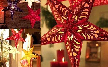 Vánoční 3D hvězda - mix barev