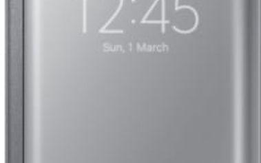 Samsung flipové pouzdro Clear View, Galaxy S6 EDGE, stříbrná