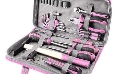 Extol Craft Lady 39 dílů - Růžová sada nářadí pro ženy
