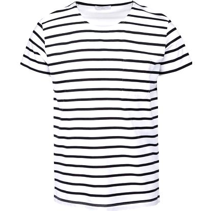 Bílo-černé pruhované triko Selected Homme Stroke