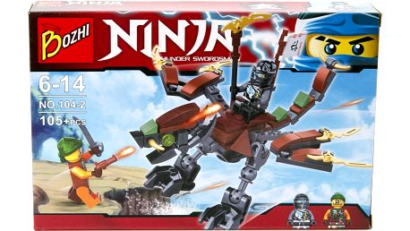 Stavebnice Ninja-Mistři Spinjitsu letadlo