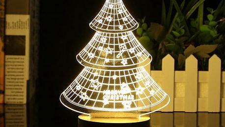 Vánoční 3D stolní lampa - 4 tvary