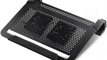 Cooler Master ALU NotePal U2 Plus, černá