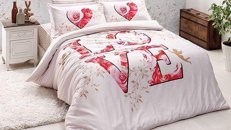Halley Home povlečení 100% bavlna Love Amore 140x200,60x80