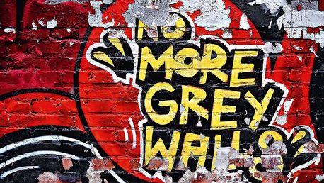 W+G fototapeta Červené graffiti 366x254 cm