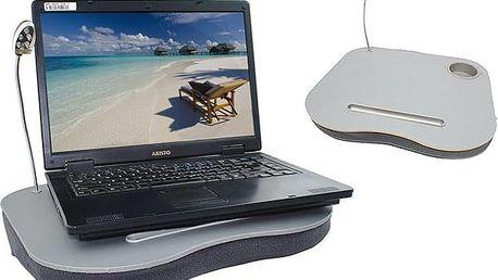 Podložka pod notebook s polštářem a lampičkou