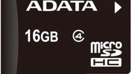 ADATA micro SDHC 16GB Class 4 ; AUSDH16GCL4-R