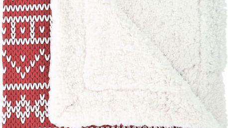 Pléd Mistral Home beránek Knitting červená