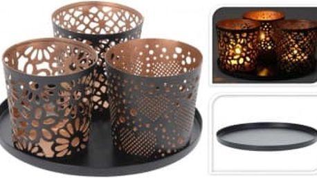 Dekorativní svícen na 3 čajové svíčky pr. 14 cmProGarden KO-A04420230