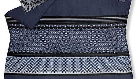 Luxusní saténové povlečení VANDYCK Romeo faded denim modrá