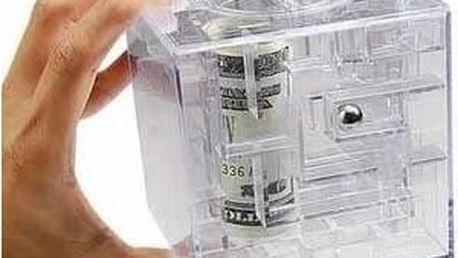 Pokladnička labyrint na peníze - Money maze - průhledná