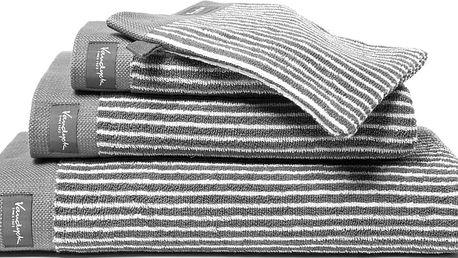 Vandyck Ručník Home Petit Ligne Mole grey - šedá