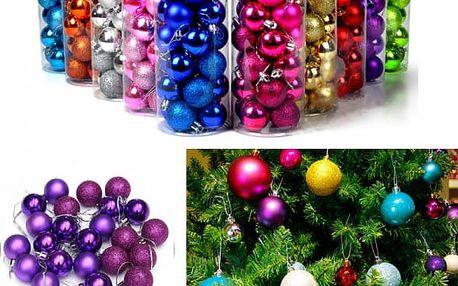 Balení vánočních koulí - 24 kusů