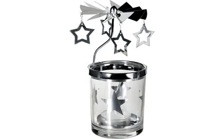 Vánoční svícen s kolotočem - Hvězdičky