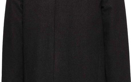 Černá pánská dlouhá bunda s kapucí RVLT