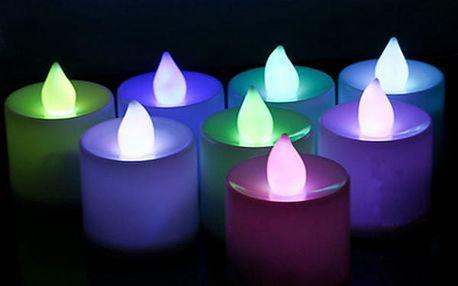 LED barevná svíčka