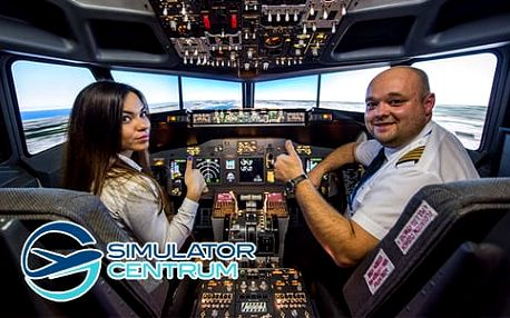 Pilotování letadla Boeing 737 v reálném leteckém simulátoru v Bratislavě