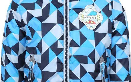 Modrá klučičí vzorovaná bunda s kapucí 5.10.15.