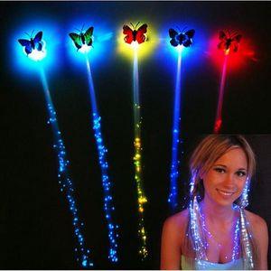 Sponka s motýlkem a svítícím LED příčeskem