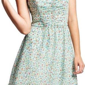 Guess Dámské šaty Strapless Tie-Back Ditsy Floral-Print Dress M