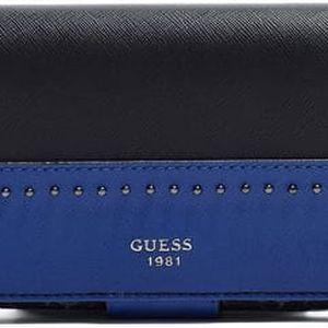 Guess Elegantní peněženka Hailey File Clutch černá multi