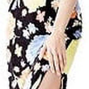 Guess Dámské šaty Strapless Applique Maxi Dress L