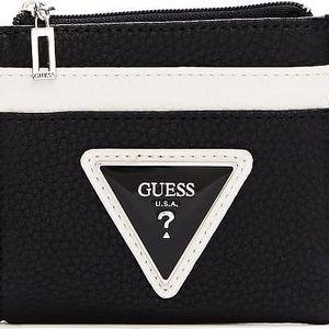 Guess Elegantní černo-bílá peněženka Agata Color Blocked Card Case Black Multi 13049482