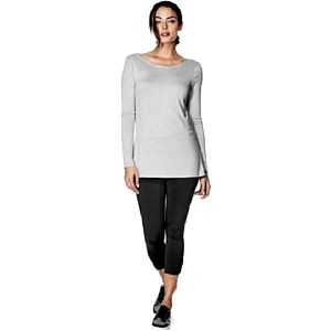 Guess Dámský elegantní šedý top Jessalin Long-Sleeve Cowl-Back Top XS