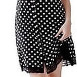 Guess Dámské šaty Cap-Sleeve Iconic Dot Shirtdress M