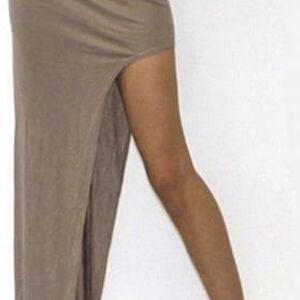 Dámská sukně s výrazným rozparkem - černá, velikost 2