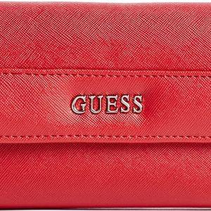 Guess Elegantní peněženka Alessandra Slim Wallet Red