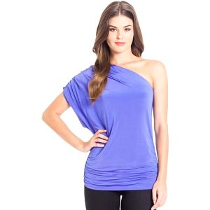 Guess Top Kyle One-Shoulder fialová XS