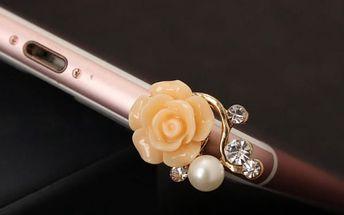 Ochrana zdířky pro sluchátka ve tvaru květu - 2 kusy