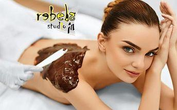 60min. masáž: čokoládová, skořicová, kokosová či s lávovými kameny + možnost 15min. zábalu