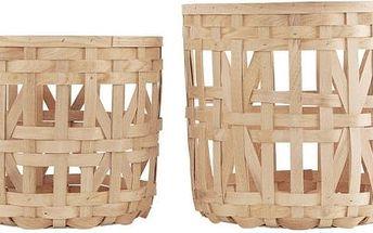 Sada 2 košíků Weave Natural Tall