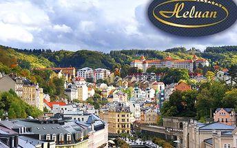 Romantika v Karlových Varech ve 4* hotelu Heluan pro dva na 3 dny s polopenzí a procedurami.
