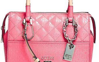 Guess Elegantní kabelka Romeo Box Satchel růžová