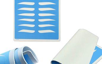 Silikonová šablona pro úpravu obočí - 8 tvarů