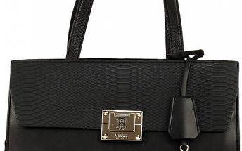 Guess Elegantní business kabelka Angela Madison Satchel černá