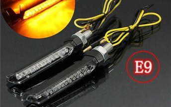 LED blinkry na motorku - 13 diod