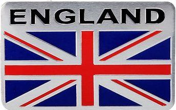 Hliníková samolepka - England