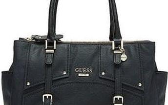 Guess Elegantní kabelka Rikki Quattro G Status Satchel černá