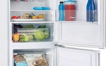 Kombinovaná lednička s mrazákem dole Candy CKCS 6186IWV/1 + 5 let záruka + 11 let záruka na kompresor (poškozený levý bok)