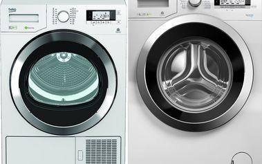 Set pračky a sušičky Beko DPY 8506GXB1 + WMY 81243CS PTLMB1
