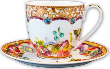 Porcelánový šálek s podšálkem Melli Mello Flowers, 150 ml