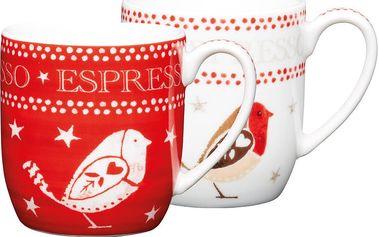 Sada čtyř hrnků na espresso Kitchen Craft Robin